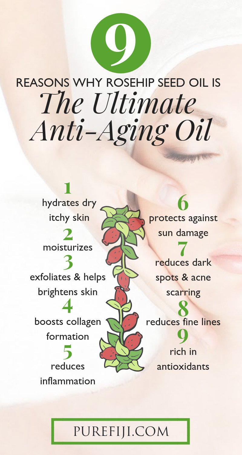 9 Reasons why rosehip seed oil is the ultimate anti-aging oil