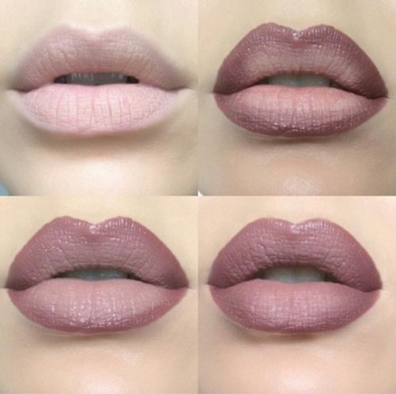 Ombre your lips to make them look fuller