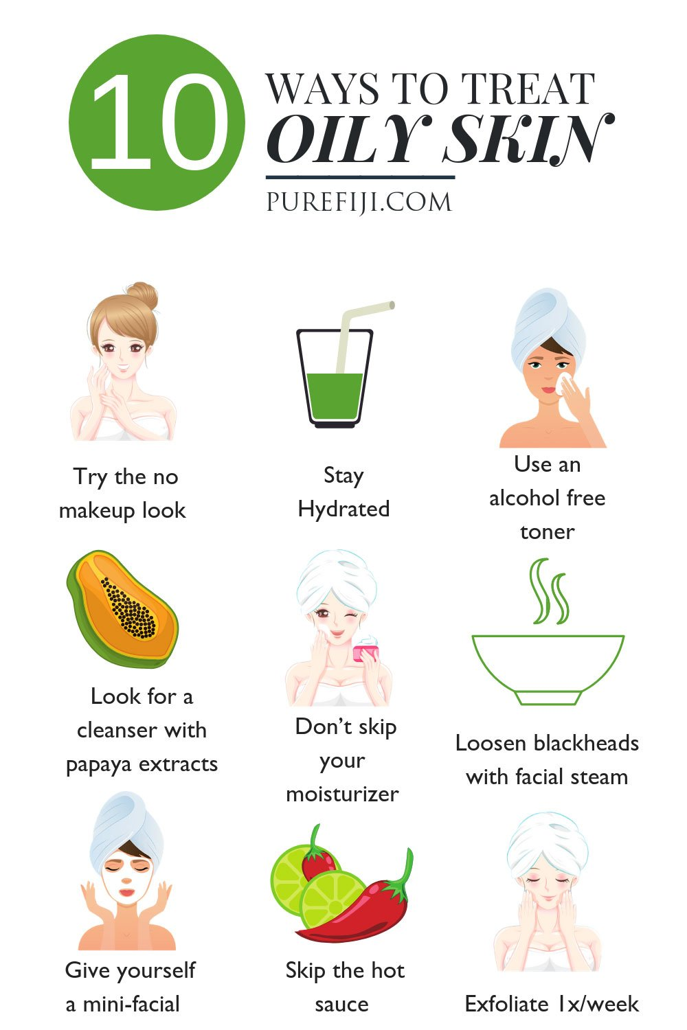 10 ways to treat oily skin
