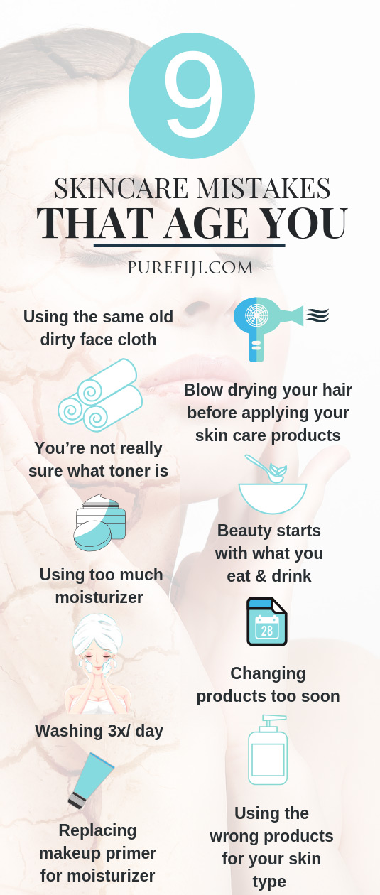 Skincare Mistakes Infographic