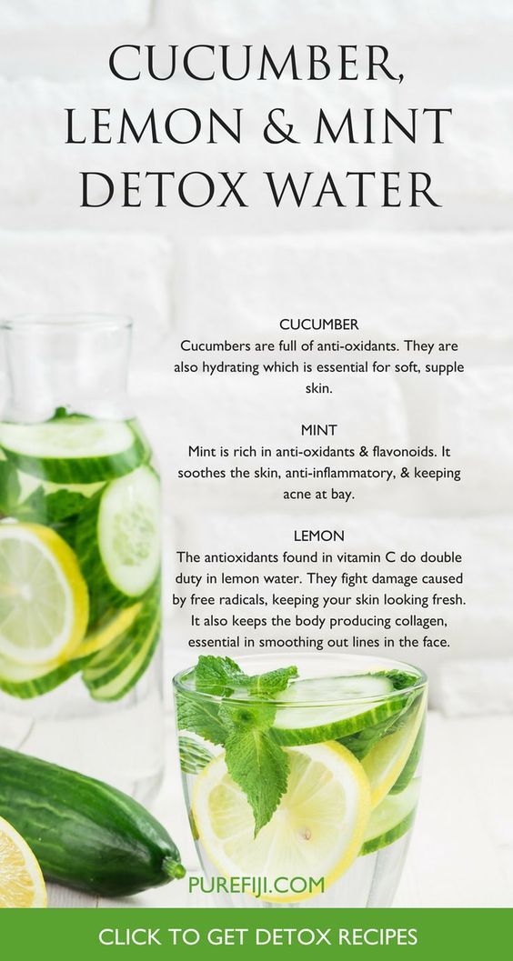 DIY detox water recipe