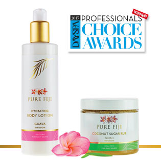 Pure Fiji Wins DAYSPA Magazine's Professional's Choice Awards